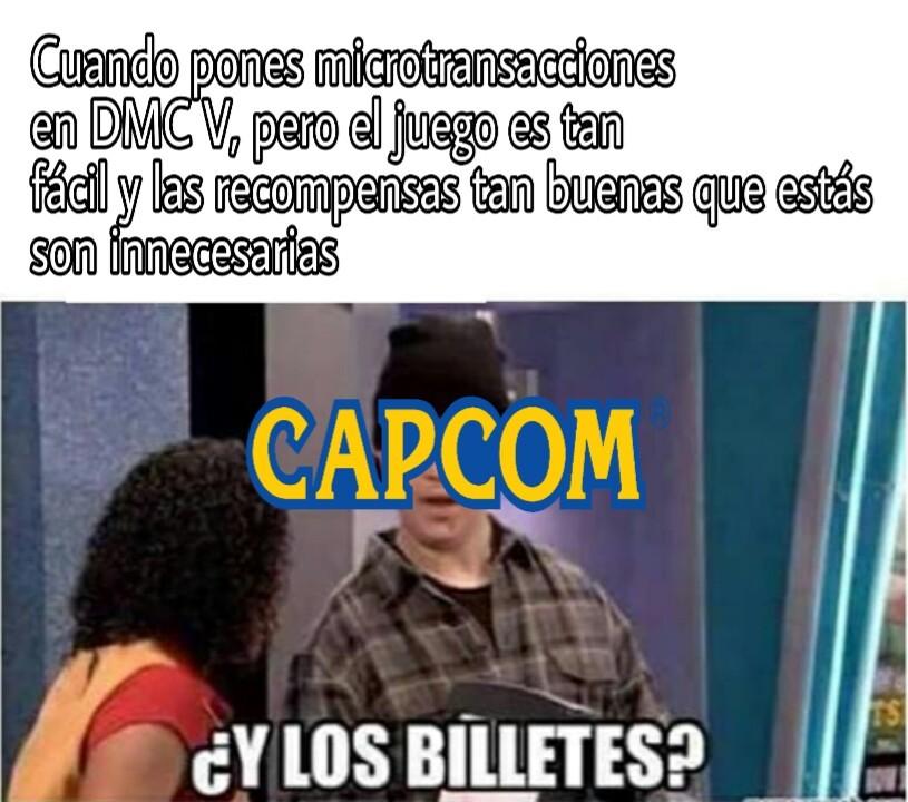 DMC V= Devil May Cry V. Saga de videojuegos más que recomendada - meme