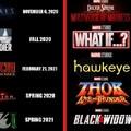 Os filmes e séries da fase 4 da Marvel