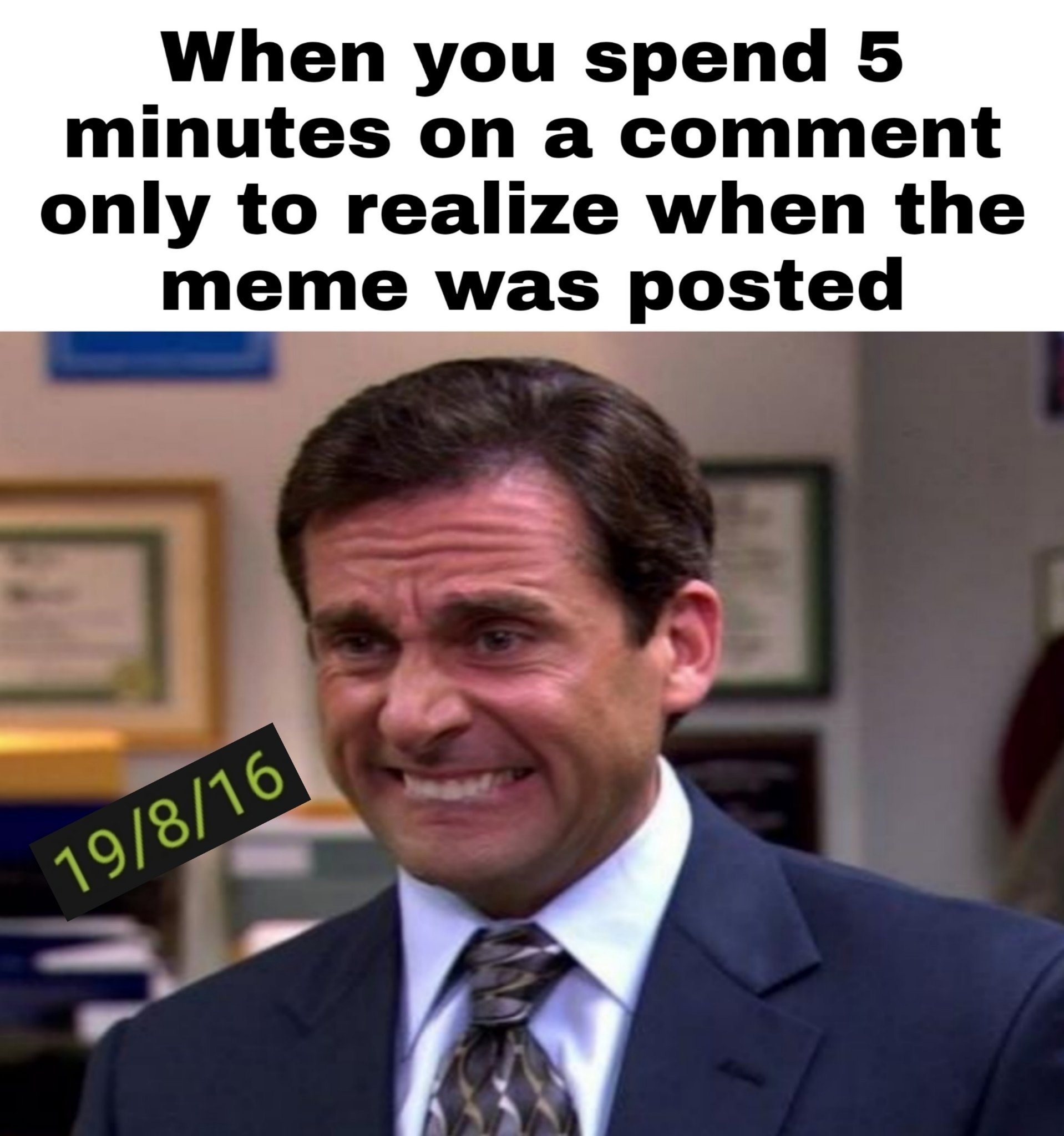 I never comment that much anyway - meme