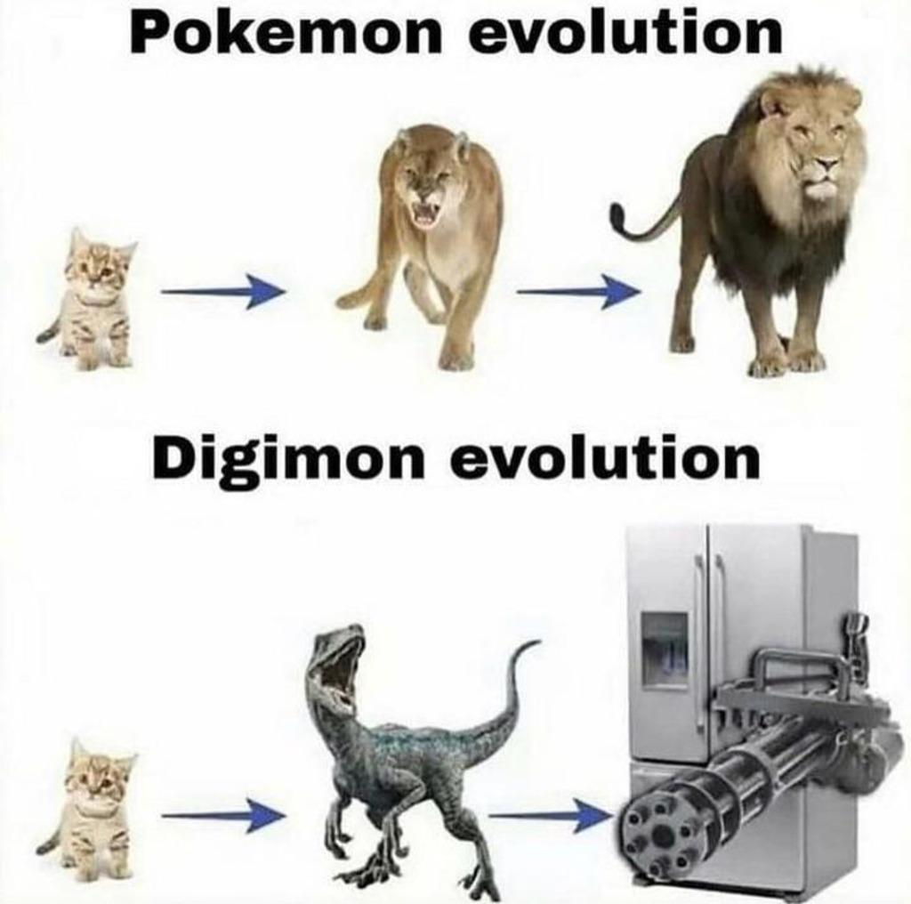 Digimon > Pokemon - meme