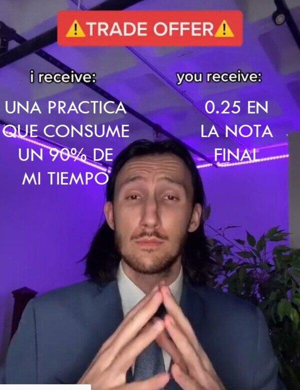 la oferta - meme