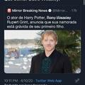 Rony Weasley vai ser pai