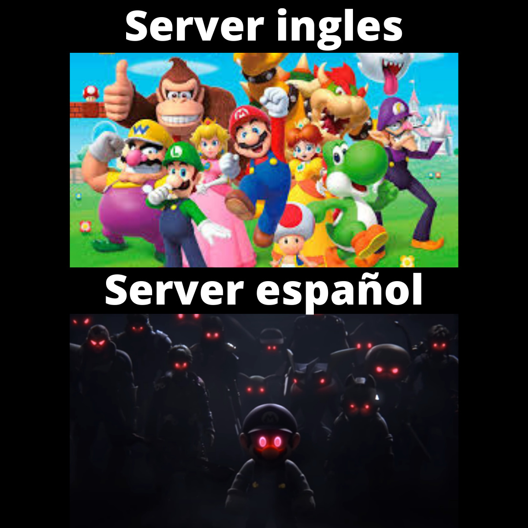 re maricas los del server ingles, somos re facheros - meme