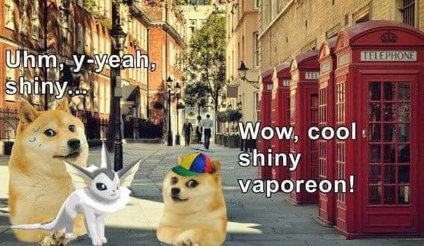 Vaporeon shiny! - meme