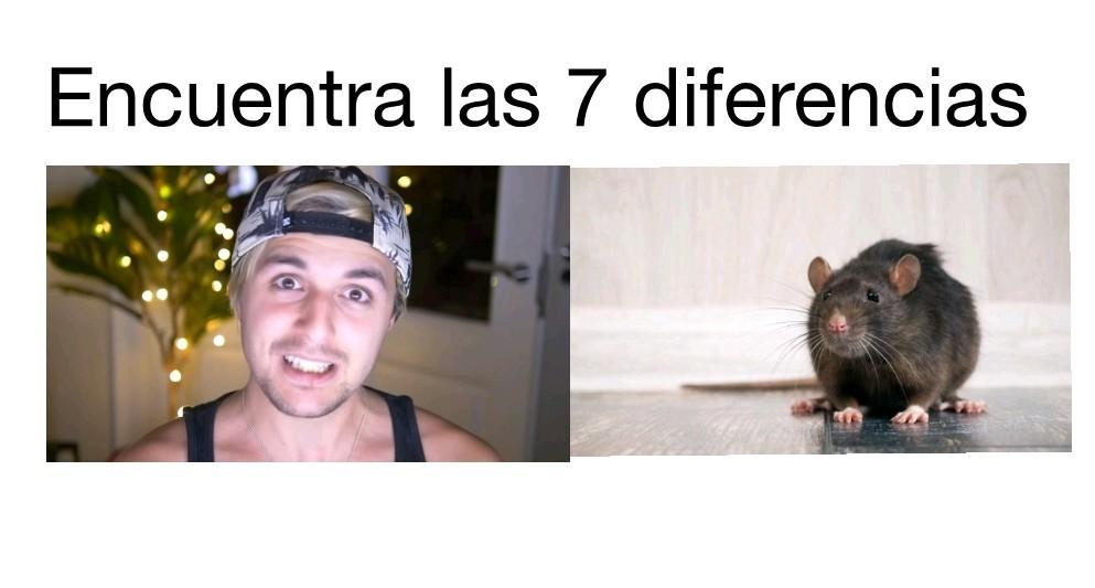 Dalas y una rata, igualitos - meme
