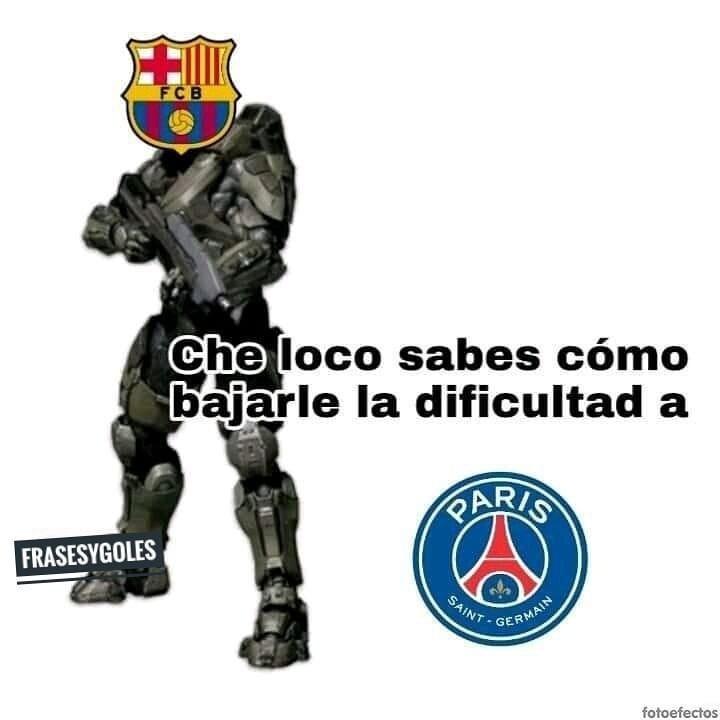 Barcelona 1-4 PSG - meme