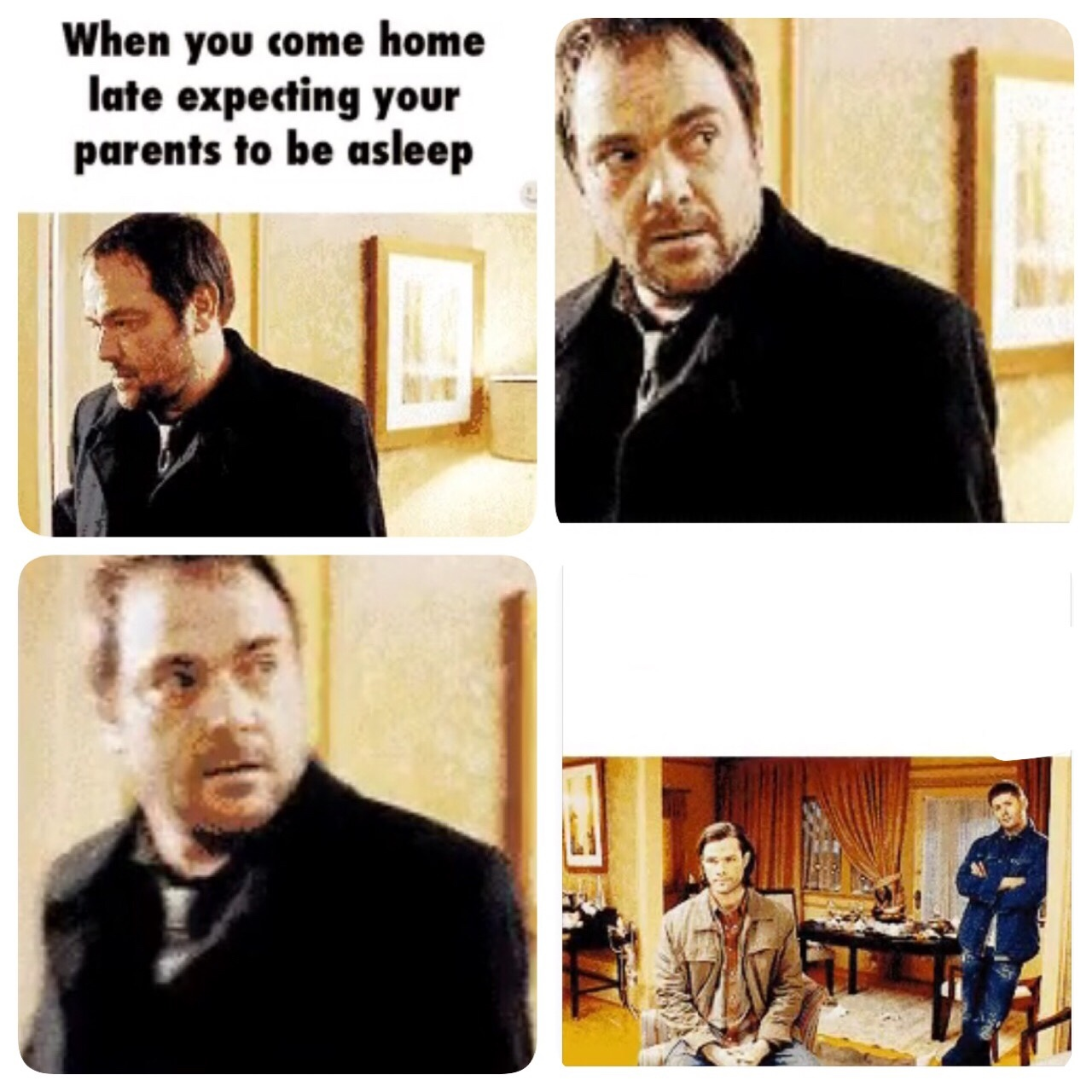 sorry for the quality...! who is excited for supernatural a next episode ? - meme