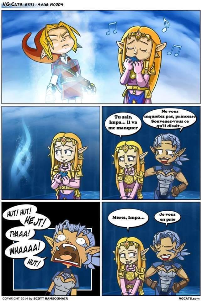 """""""Ah mais Zelda c'est la princesse? :0"""" - meme"""
