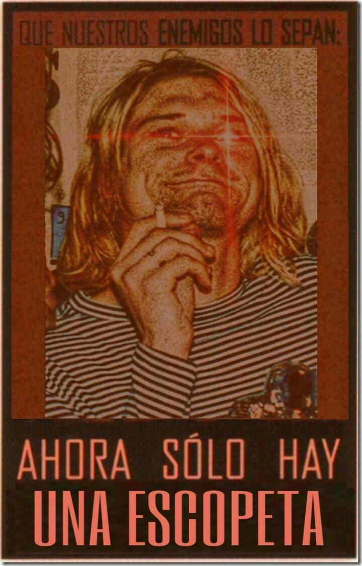 """""""Escopetas Locas"""" Cobain - meme"""