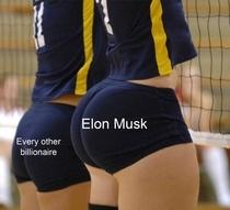 Elon Musk has bigger brain - meme