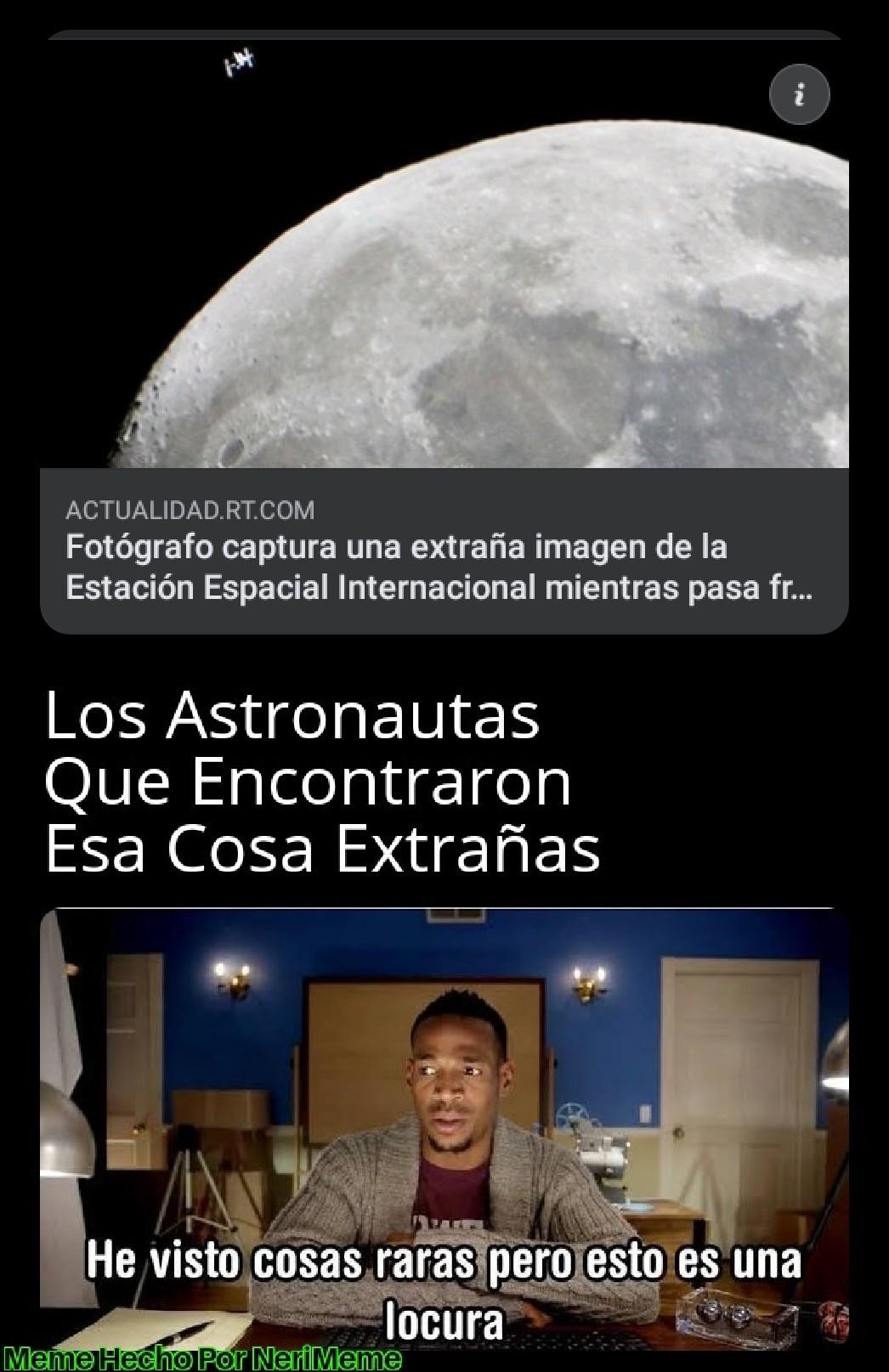 Meme: cosas extrañas que pasan en el exterior del planeta