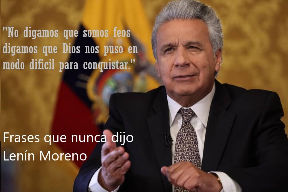 Palabras de Lenin Moreno - meme