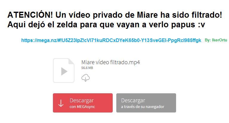 Vídeo filtrado de Miare - meme