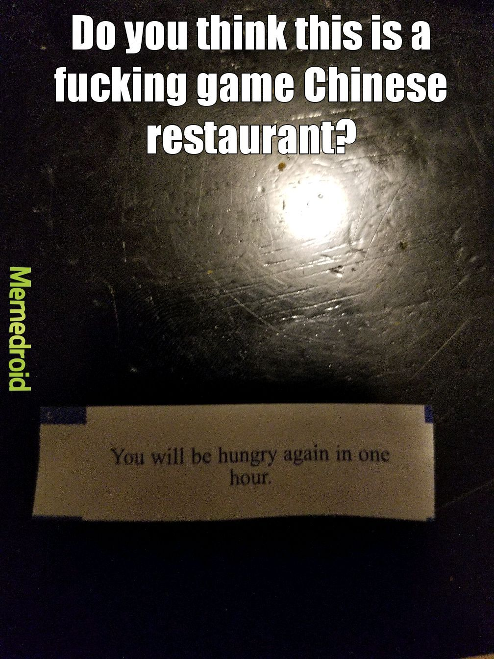 Fortune cookie fuck up - meme