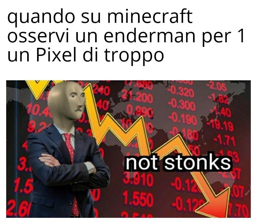 minecraft buggato - meme