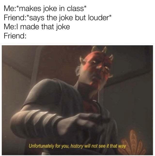 That joke is mine - meme