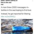 Fish dont like bottles???