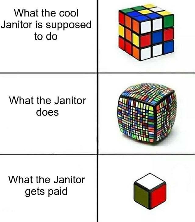 Thank you Janitor! - meme