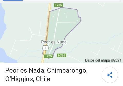 Nombres Graciosos De Ciudades #1: Peor Es Nada, Chile  - meme