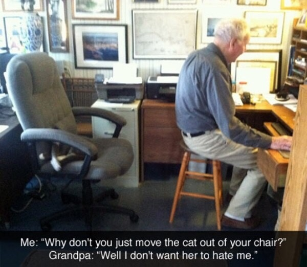 grandpa respects the pussy - meme