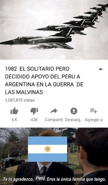 Perú y Argentina - meme
