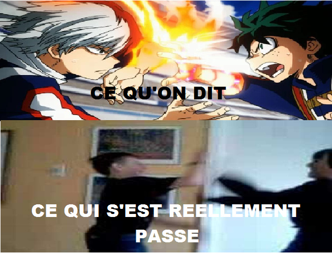 Quand on s'est battu et qu'on raconte à son pote. - meme
