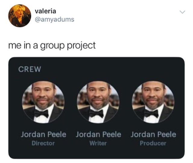 Me in a group project - meme