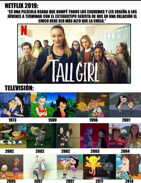 """Los programas de abajo no decían """"miren nosotros vamos a romper este estereotipo jajs somos modernos e  inclusivos"""". Netflix putito - meme"""