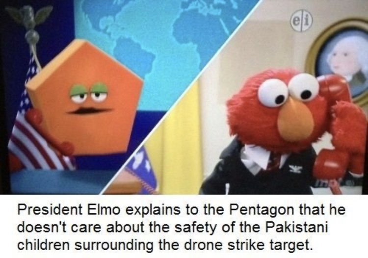 Elmo doesn't play around - meme