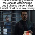 No cheeseburgers 4 u m8
