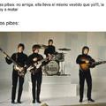 Ringo está arriba porque es superior