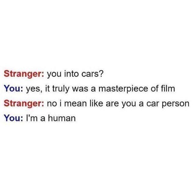 I'm a human - meme