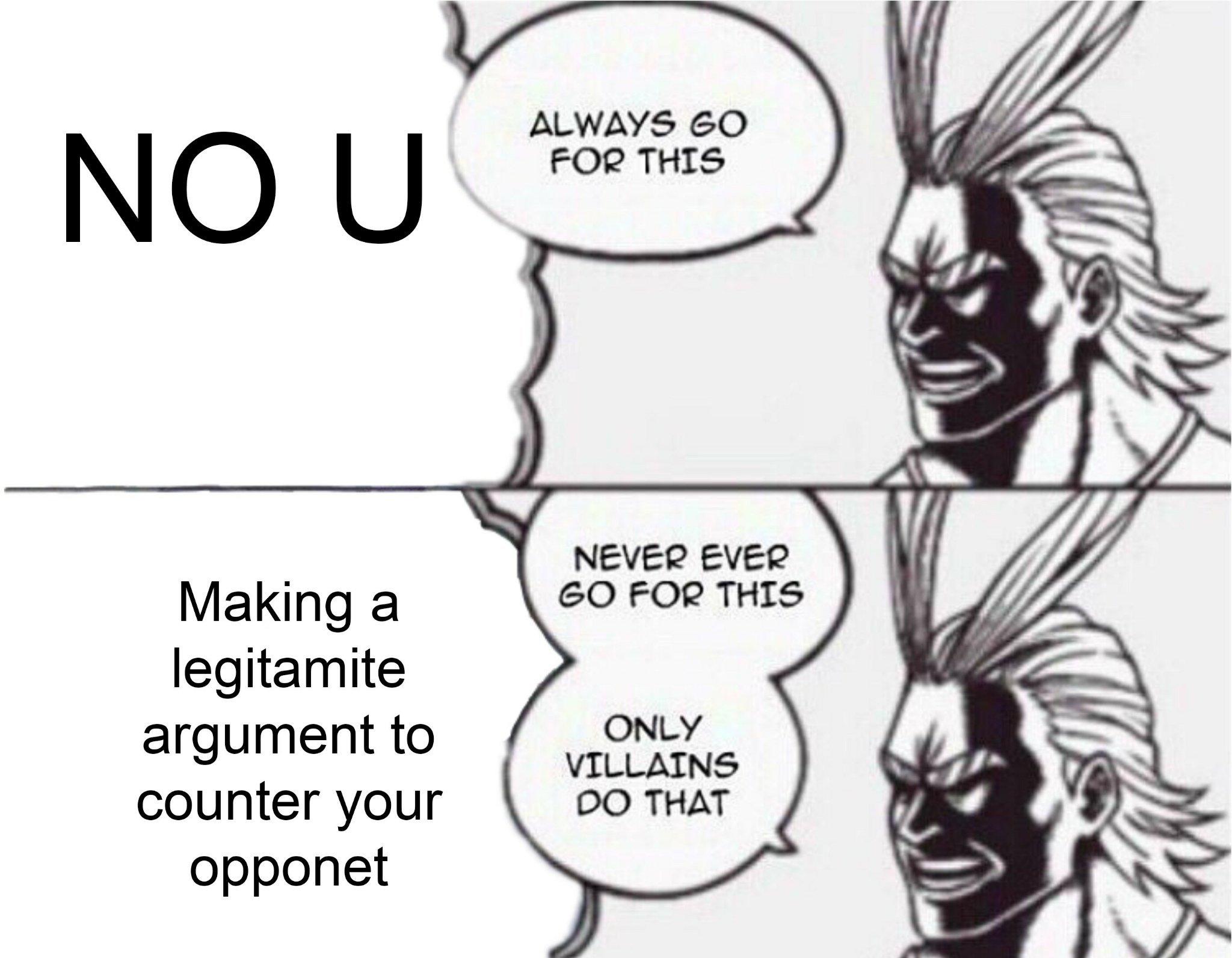 No w - meme