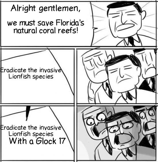 Lionfish Slayer - meme