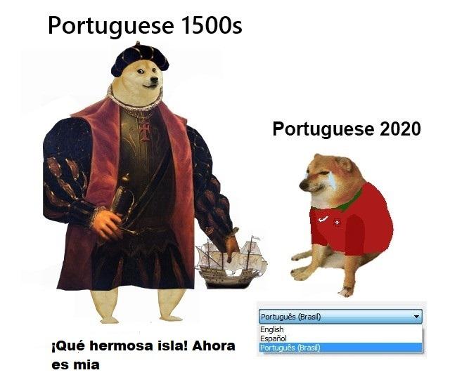 portugueses antes vs portugueses ahora - meme
