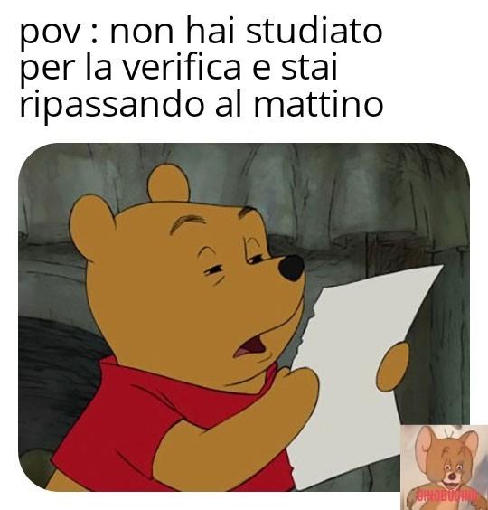 Non puoi ripassare se non hai studiato - meme