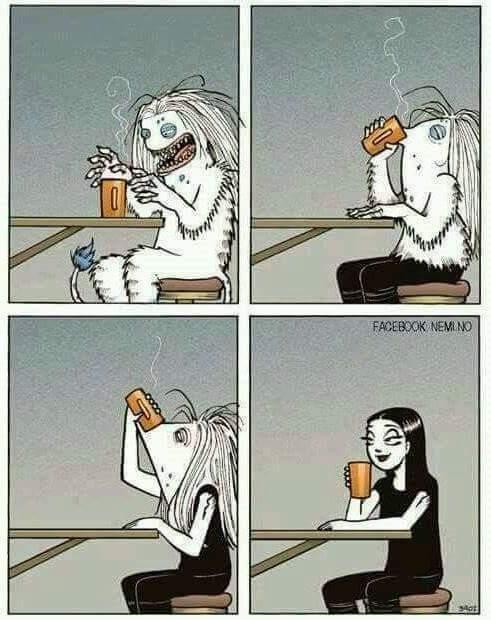 Les gens le matin sans leur café - meme