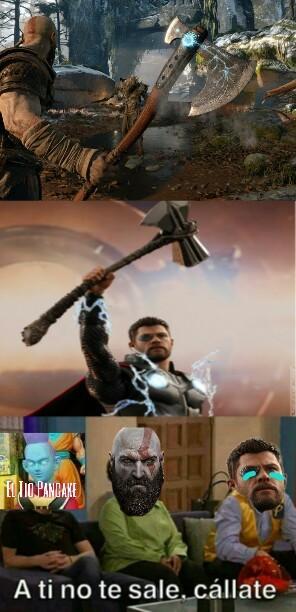 Nuestro buen kratos :) - meme