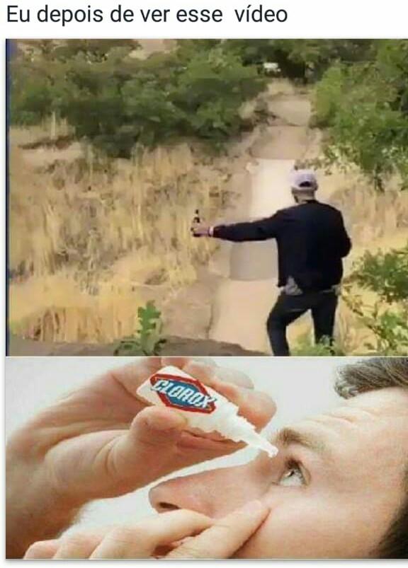 Morrer carbonizado é melhor que ver esse vídeo - meme