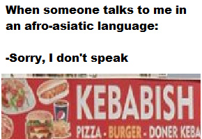 turkish is not afro-asiatic but whatever - meme