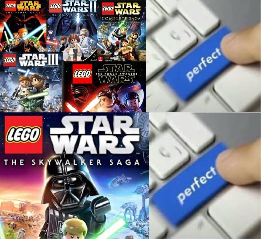 A verdade é que lego star wars sempre foi bom - meme