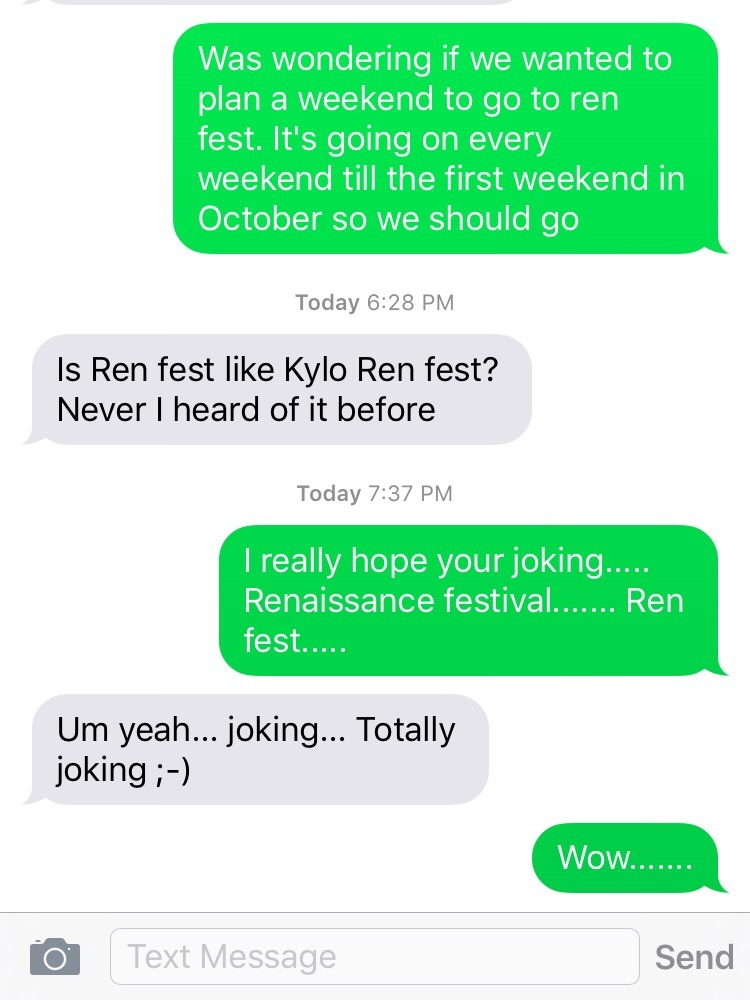 dad wanted to go to Kylo Ren fest..... - meme