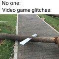 Video game glitches