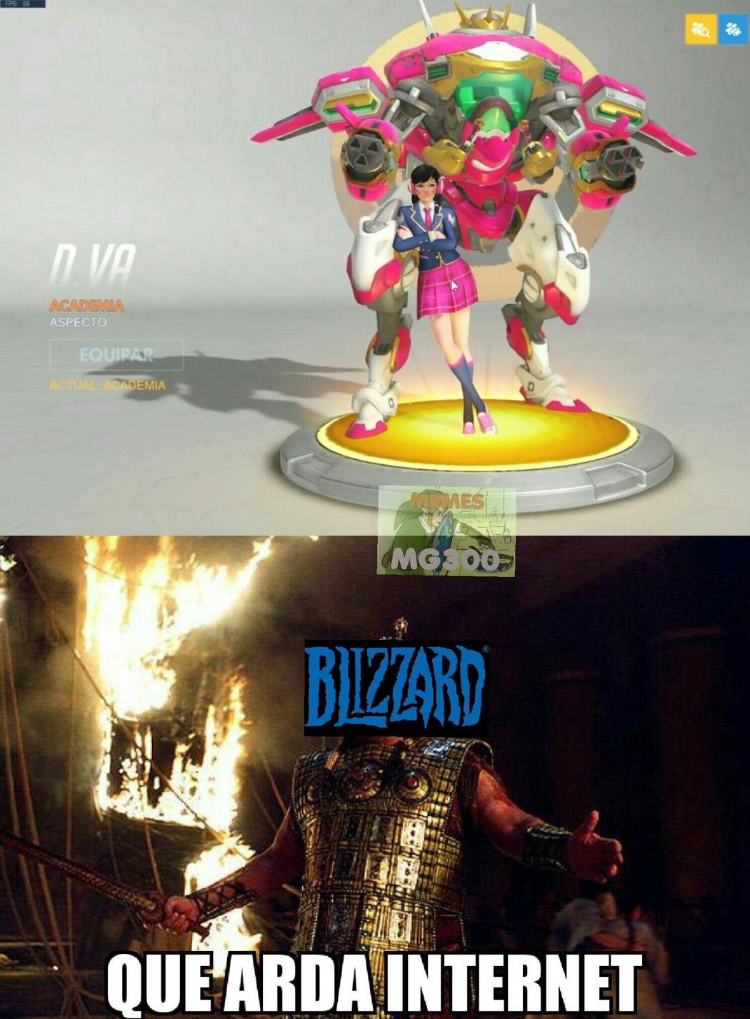 Blizzard, tu te lo has buscado - meme