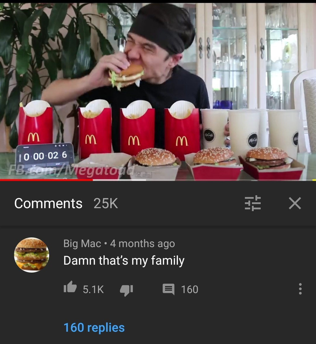 F por la big Mac - meme