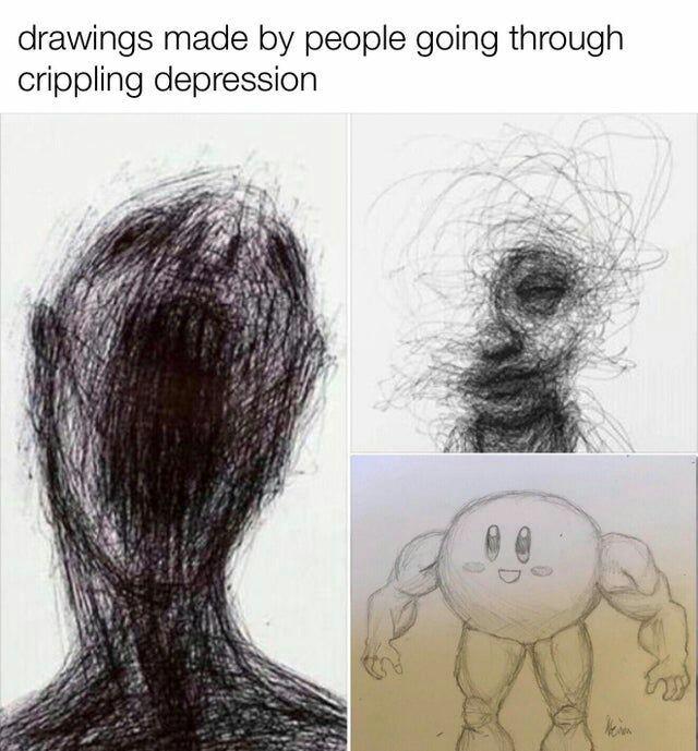 Gente deprimida - meme
