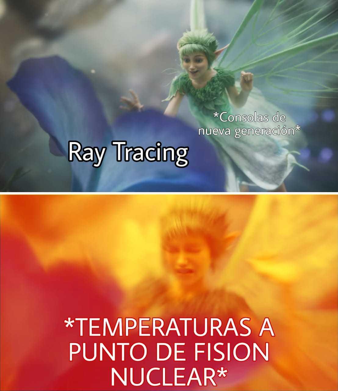 Y por cierto ese Ray Tracing es medio trucho - meme