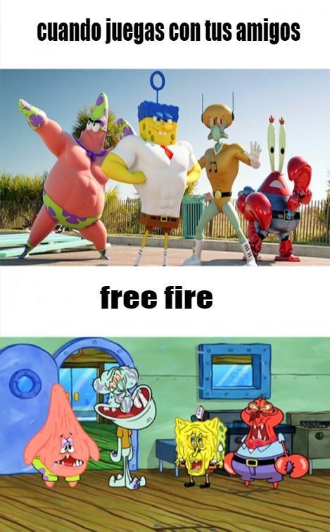 free fire es retraso - meme
