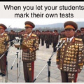 When you let your students mark their own tests