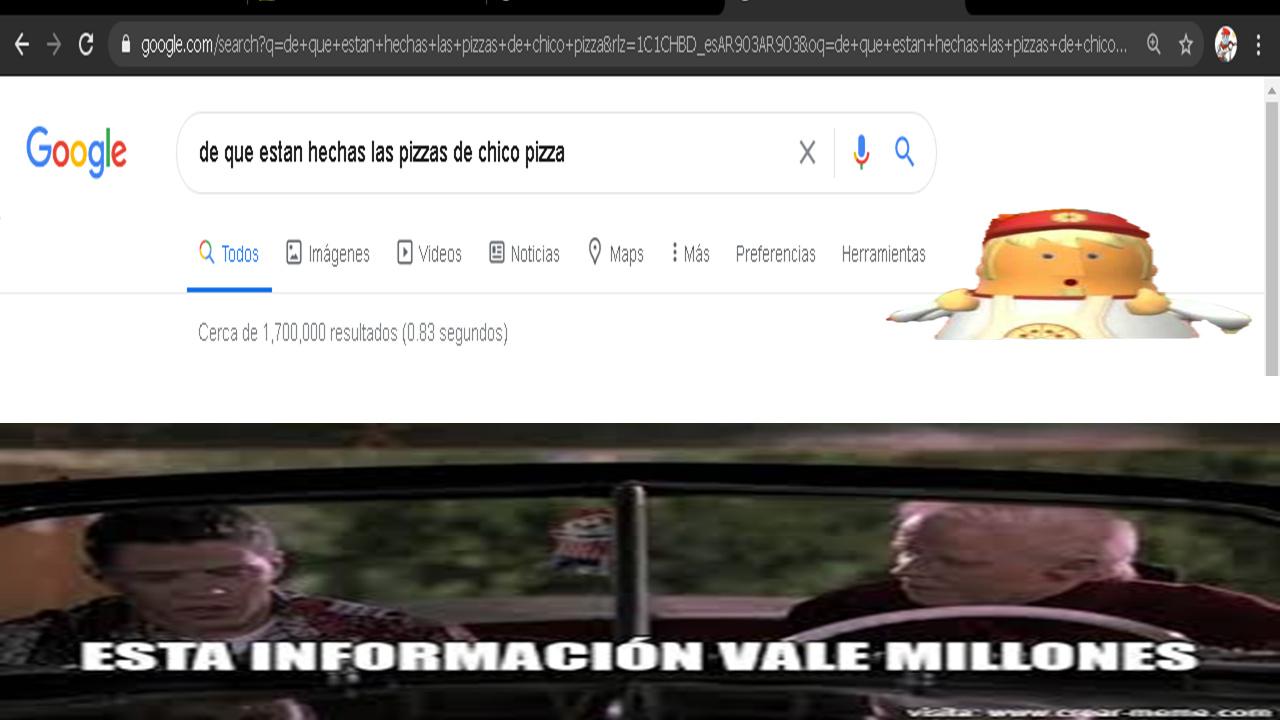 de que estan hechas las pizzas de chico pizza? - meme